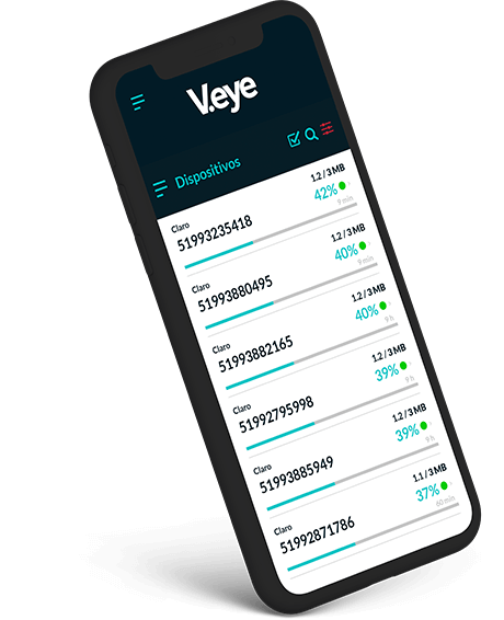 V.eye Dashboard mobile
